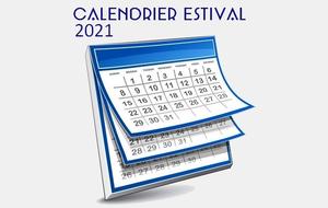 Calendrier saison extérieure 2021